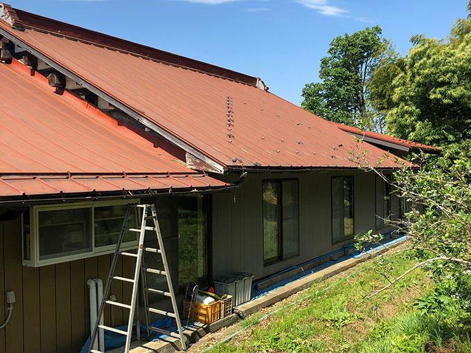 大衡E様邸-屋根塗装1